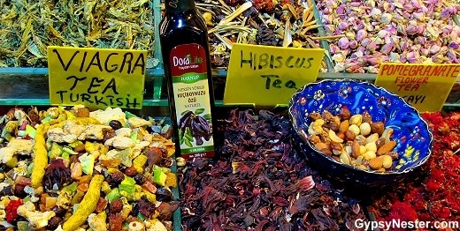 Viagra tea in the Grand Bazaar of Istanbul, Turkey