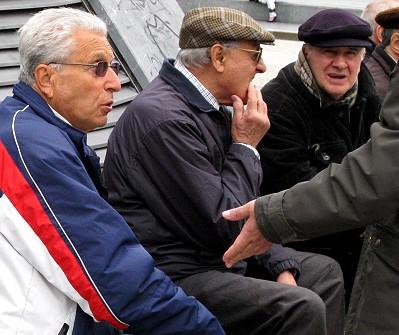 Old gentleman watching
