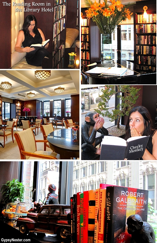 The Reading Room at the Library Hotel, NYC