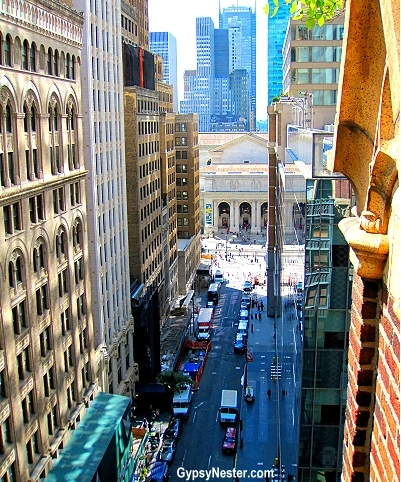 Looking Down 41st Street Toward The New York Public Library From The  Rooftop Garden Of The