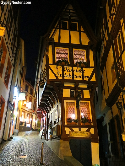 The crazy leaning buildings of Bernkastle, Germany