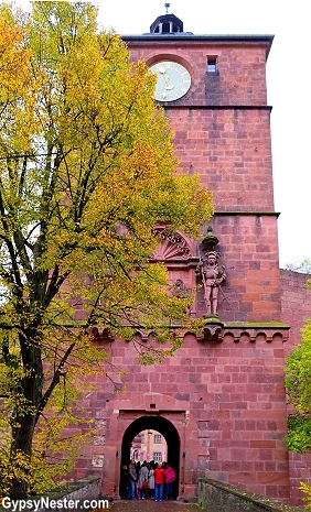 The gate of Heidelberg Castle in Germany