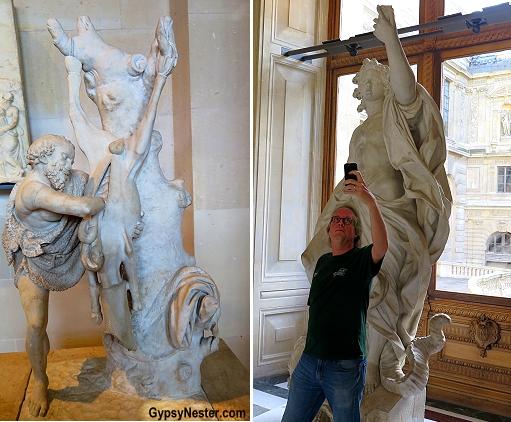 Weird art at the Louvre in Paris