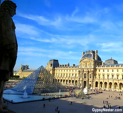 View from a window of the Louvre in Paris, France