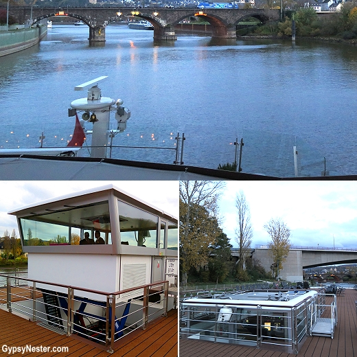 The pilothouse on Viking River Cruises' Longboats raises and lowers to get under bridges