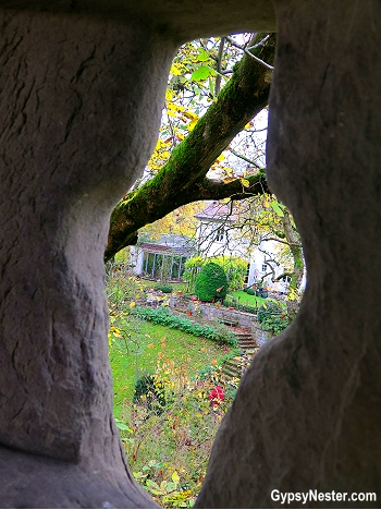 Loophole in the city wall in Rothemburg, Germany