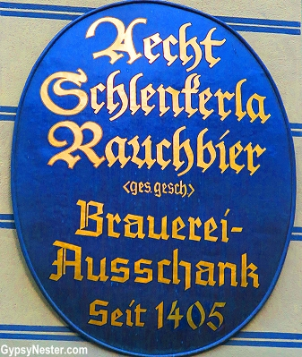 Aecht Schlenkerla Rauchbier, the smoky beer in Bambery, Germany