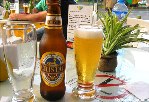 Cristal, the beer of Peru