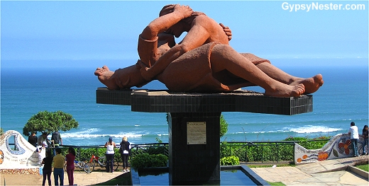 The Kiss in Parque del Amor in Lima Peru