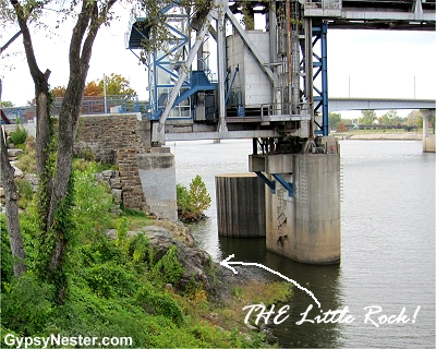 The little rock that Little Rock Arkansas is named from!