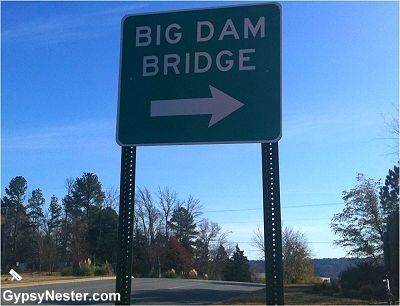 The Big Dam Bridge outside Little Rock Arkansas