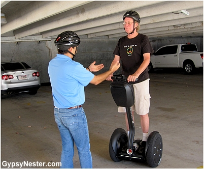 David gets a Segway lesson
