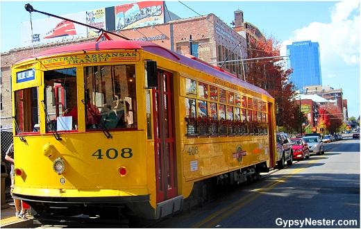 River Rail Streetcar Line Trolley in Little Rock