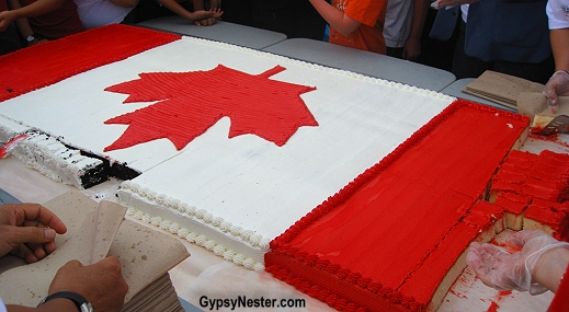 Cutting the Canada Day Cake in London, Ontario!