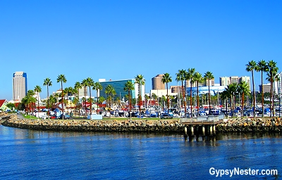 Long Beach, California from the water.