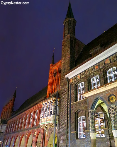 Lübecker Rathaus, the City Hall in Lubeck, Germany