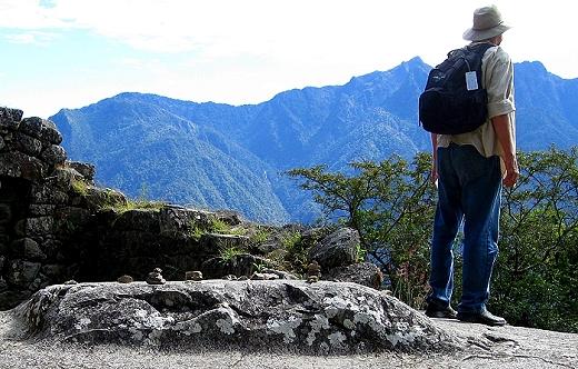 David soaks in Machu Picchu