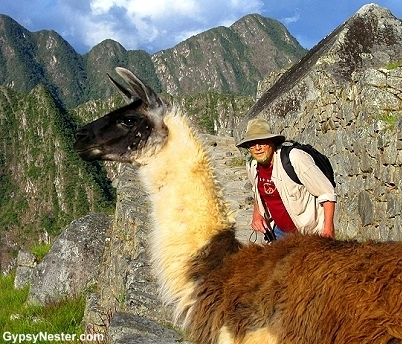 David the Llama whisperer at Machu Picchu GypsyNester.com