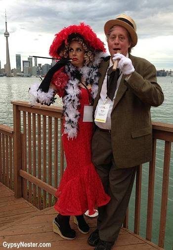 The GypsyNesters as Mae West and WC Fields