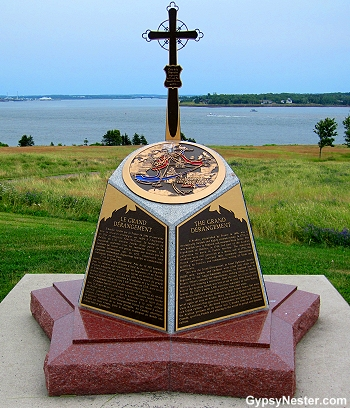 The Acadian Monument at Port-la-joye, Prince Edward Island