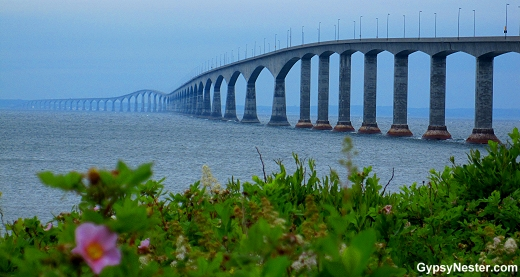 The Confederation Bridge linking Prince Edward Island to New Brunswick