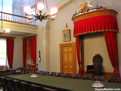 The very room in Province House that hosted the Charlottetown Conference