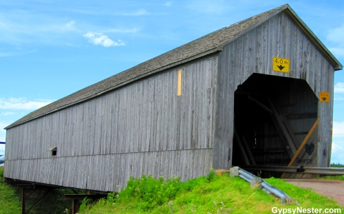 The Wheaton Covered Bridge in New Brunswick