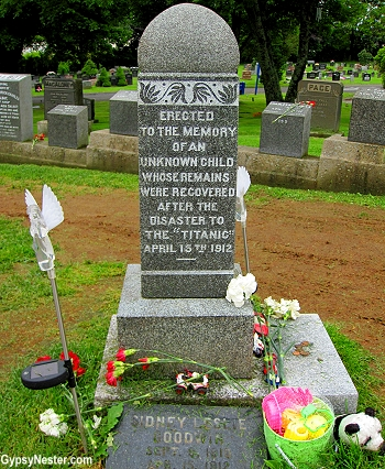 The grave of the unknown child from the Titanic in Halifax