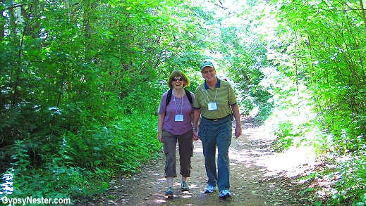 Dave and Conni take a stroll along Anne's Lover's Lane