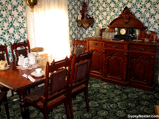 The dining room at Green Gables at the National Historic Site