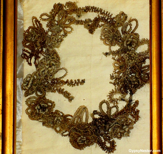Victorian hair wreath