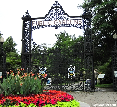The gate to the public gardens in Halifax, Nova Scotia, Canada
