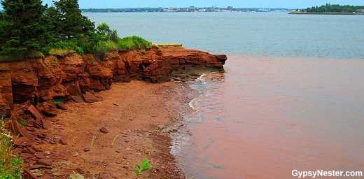 Red cliffed  Port-la-Joye / Fort Amherst, Prince Edward Island