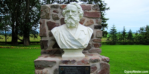 Longfellow bust at Grand Pre, Nova Scotia