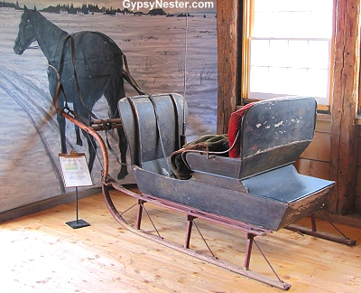 A sleigh at the Campbell Carriage Factory, New Brunswick