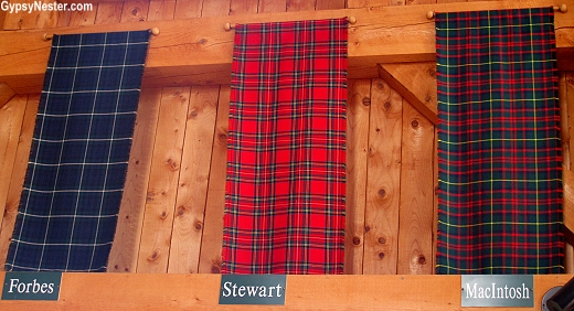 Tartans at the Hector Museum in Pictou, Nova Scotia