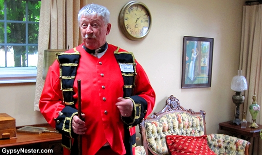 Our guide, George Dalton as Samuel Holland