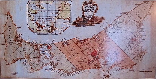 Really accurate map of Prince Edward Island by Samuel Holland