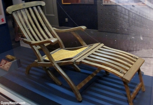 A deck chair from the Titanic
