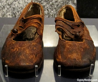 Shoes from the unknown child that died on the Titanic