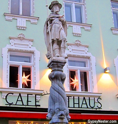 Statue of St. Coloman in Melk, Austria in the Wachau Valley