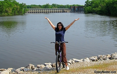 Biking the Great River Trail in Moline, Illinois
