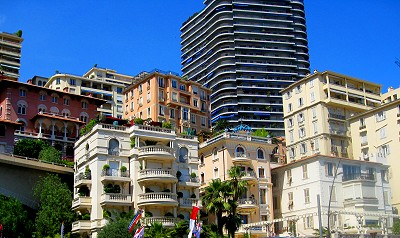 Monaco, built up the hill