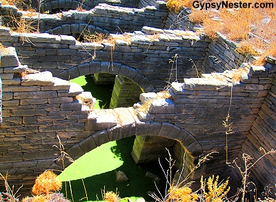 The dwellings in Delos also had fresh water access supplied by cisterns underneath, along with sewer systems to carry off the waste. These types of innovations weren't found in most of the world for over a thousand years.