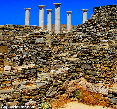 The ruins of the island of Delos, Greece