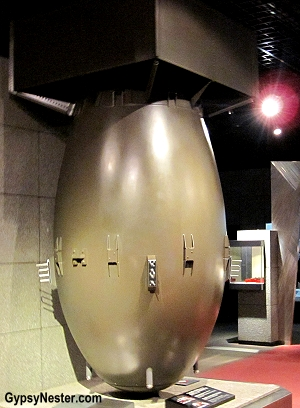 The atomic bomb in Nagasaki, Japan