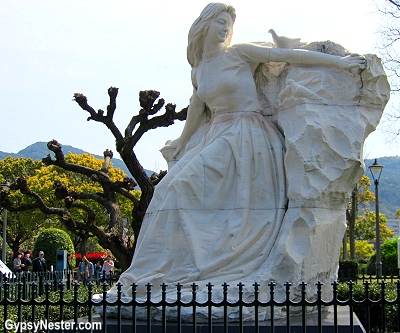 Peace monument at the Nagasaki Peace Garden, Japan
