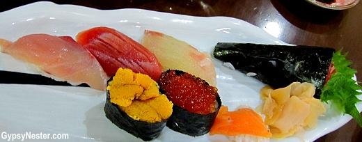 Sushi in Nagasaki, Japan
