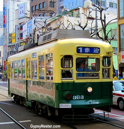 The Number One Trolley in Nagasaki, Japan