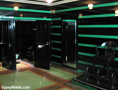The very cool bathroom at Nashville's Hermitage Hotel
